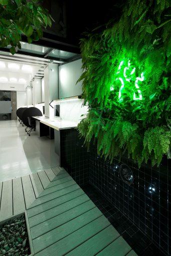 Patio interior espacio coworking en Valencia barrio Ruzafa