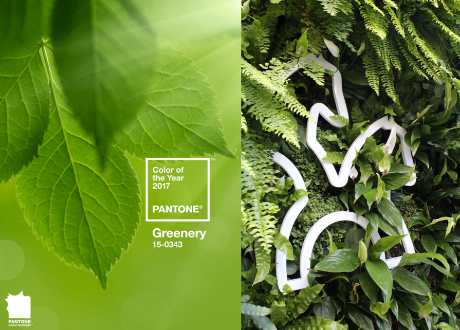 Greenery color pantone 2017 tendencia interiorismo