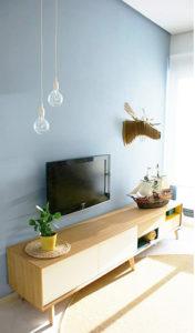 estilo escandinavo salón proyecto interiorismo tiovivo creativo