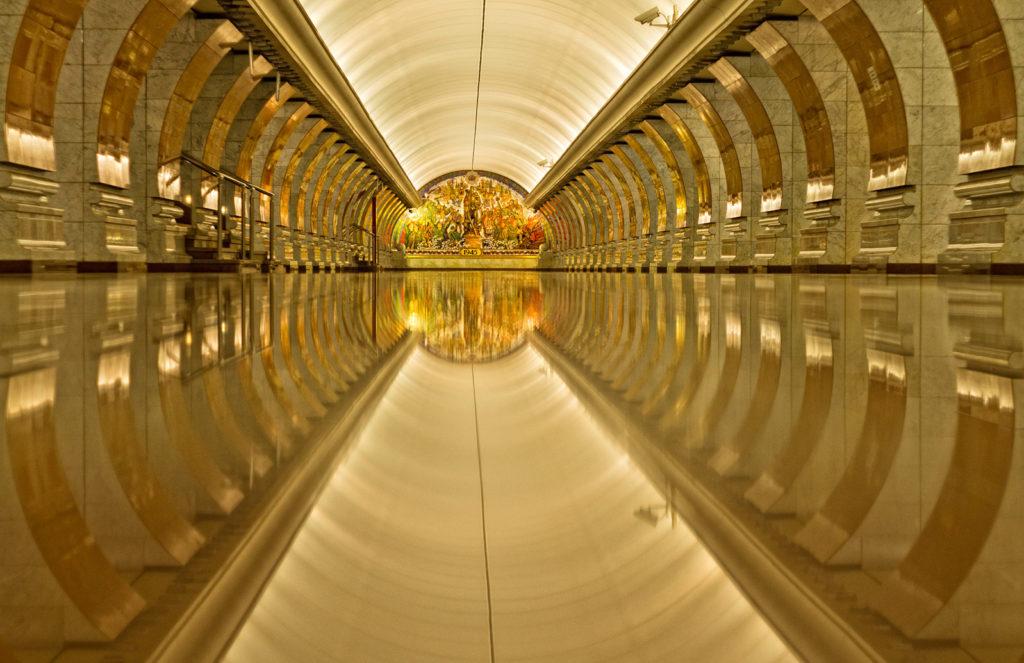 estaciones de metro. Interiores metropolitanos