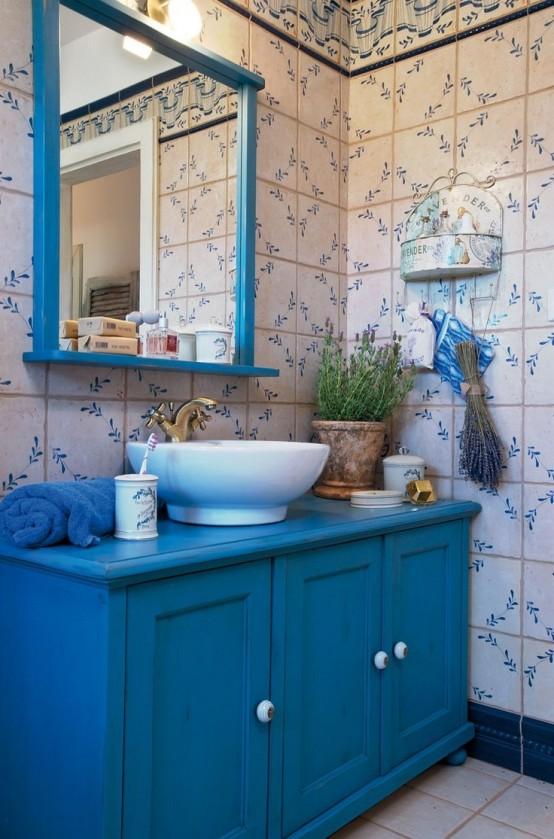 cuarto de baño provenzal
