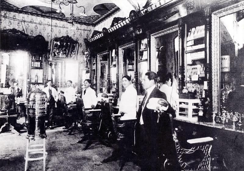 Barbería mediados siglo XX
