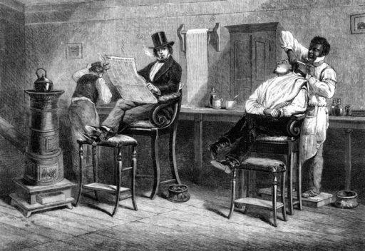 Barbería siglo XIX