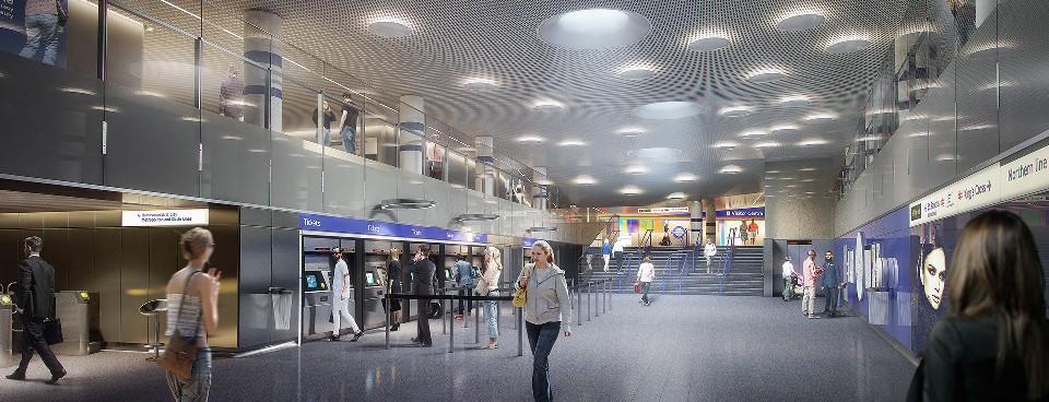 Estaciones de metro. Interiores minimalistas