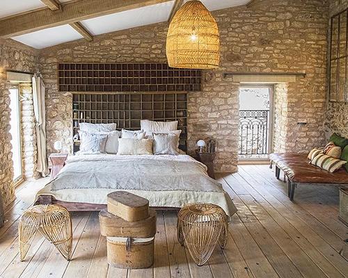 Dormitorio estilo provenzal rústico