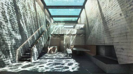 brutalismo-ejemplo interiores casa brutalista