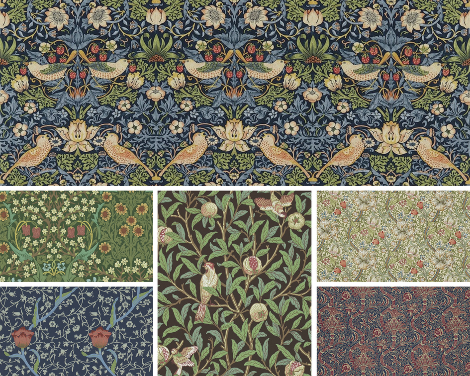 Papel pintado William Morris