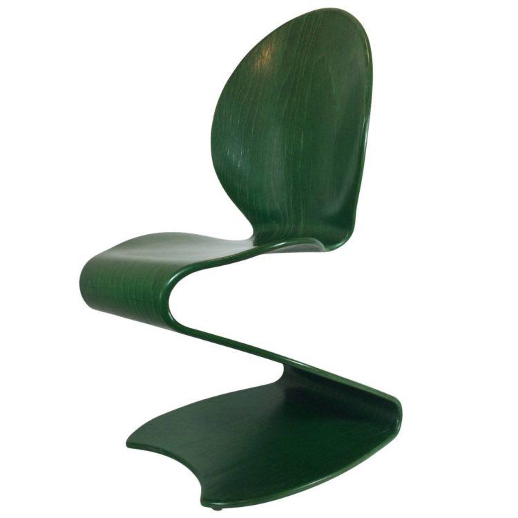 Silla S-chair diseño de Verner Panton