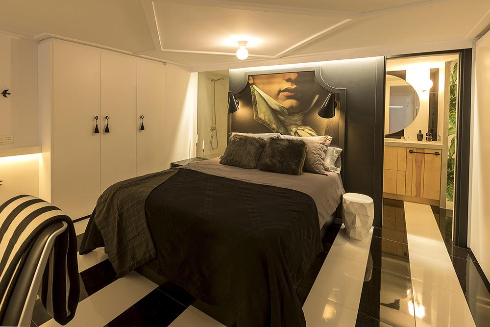 diseño-dormitorio-vestidor-estilo-masculino-suelo-rayas-blancas-negras