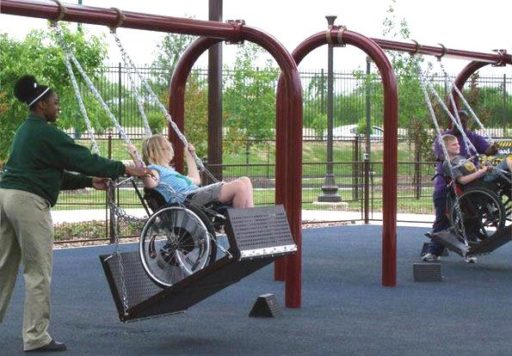 diseño parques infantiles accesibles
