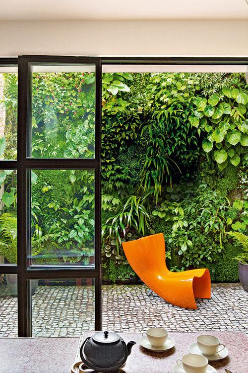 terrazas con jardín vertical