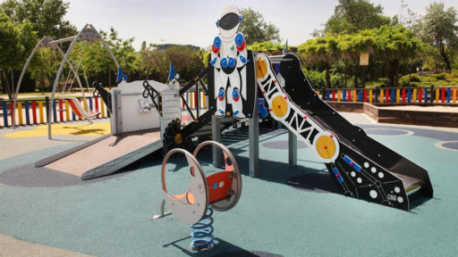 historia diseño parques infantiles accesibles