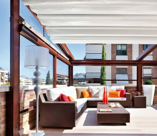 Diseño terrazas acristaladas de viviendas