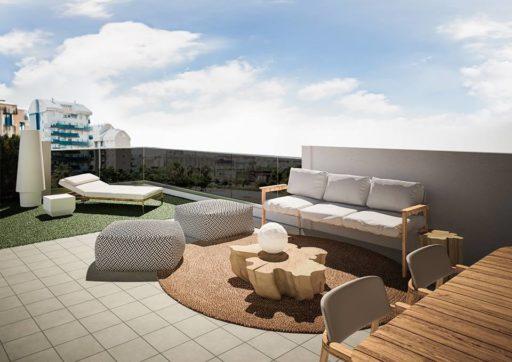 Diseño Terrazas en ático piso piloto