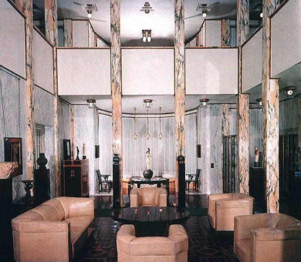 Interiores- diseño-Talleres-vieneses. Wiener Werkstätte