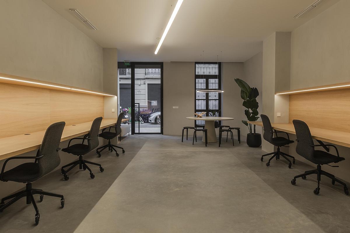 Espacio trabajo diafano diseño oficinas