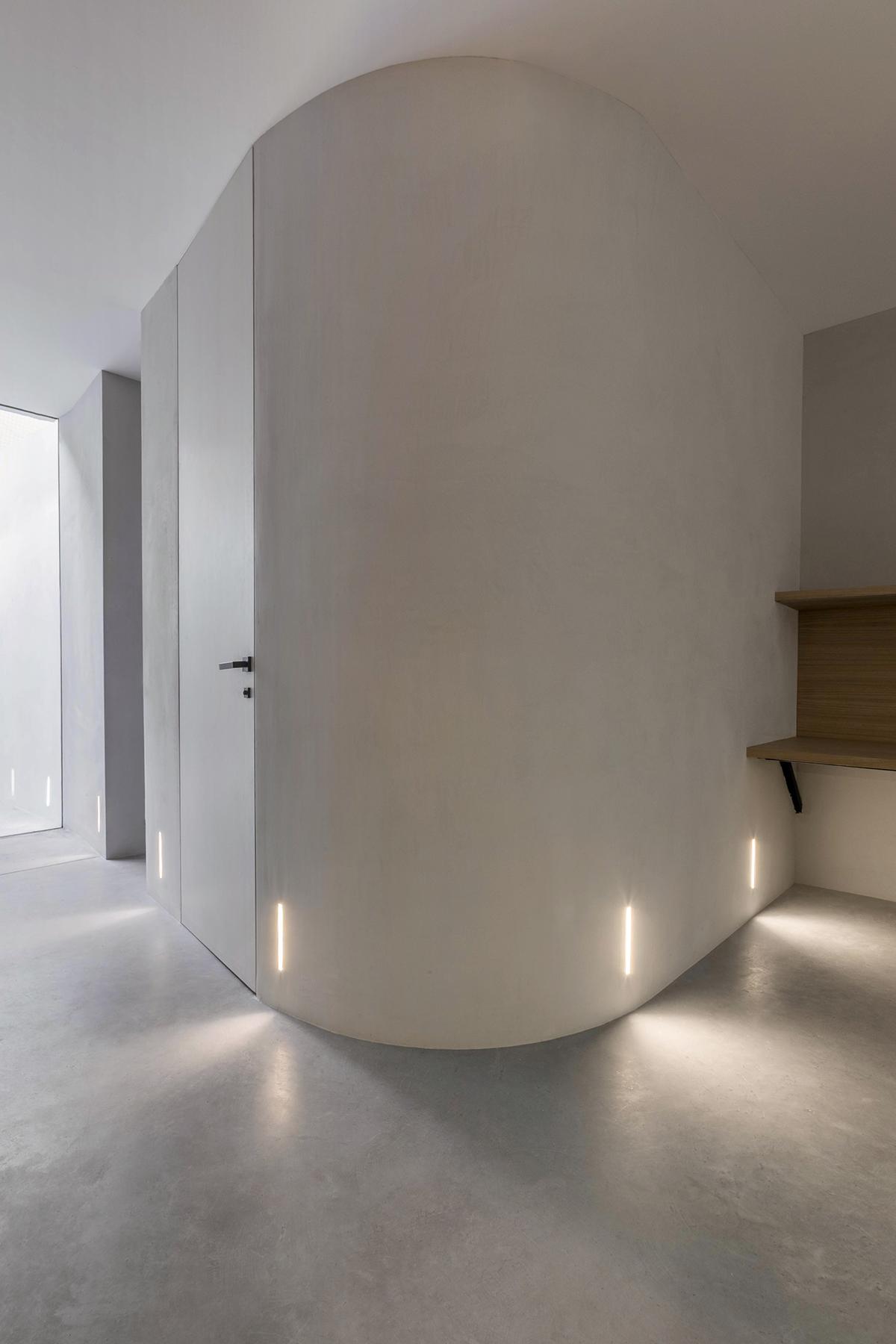 paredes curvas diseño interior Tiovivo